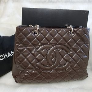 Authentic Chanel Classic GST Grand Shopping Tote